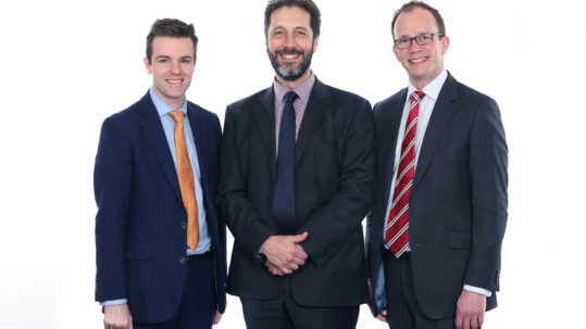 Cllr Kelham Cooke, Steve Bowyer and Cllr Matthew Lee